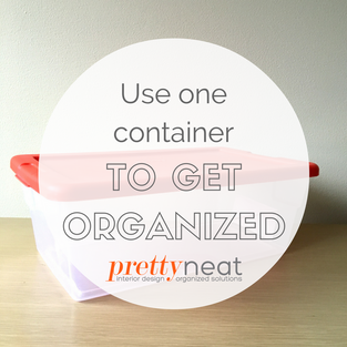Use One Container to Get Organized