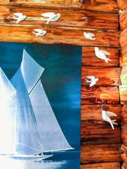 white bird wall decoration