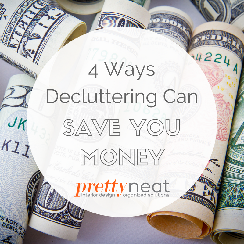 save money declutter