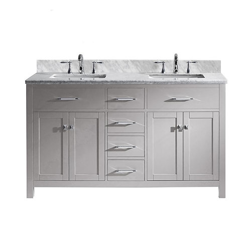 "Double Vanity 60"" Option 4"