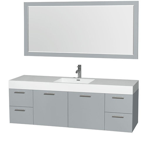 "Single Vanity 72"" Option 2"