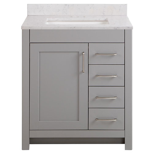 "Single Vanity 30"" Option 4"