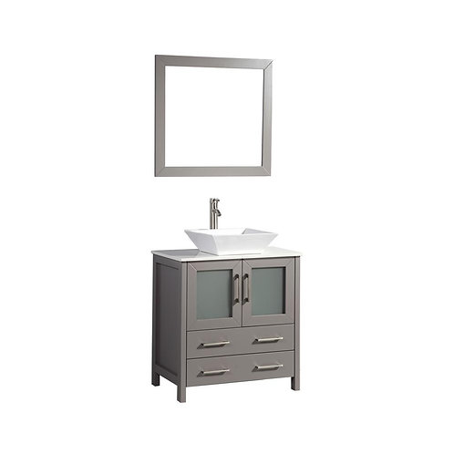 "Single Vanity 30"" Option 5"