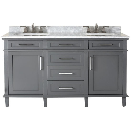 "Double Vanity 60"" Option 6"