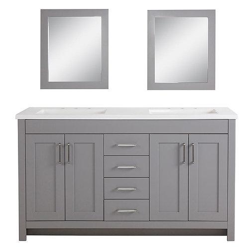 "Double Vanity 60"" Option 1"