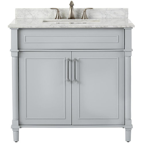 "Single Vanity 36"" Option 4"