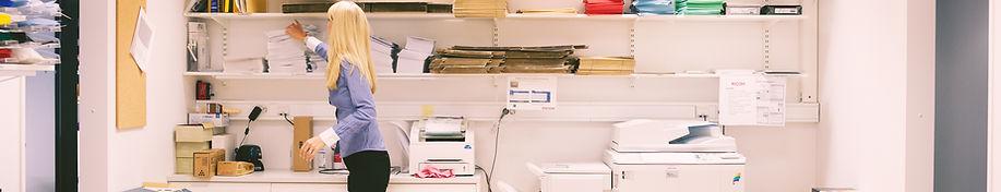 office supply room