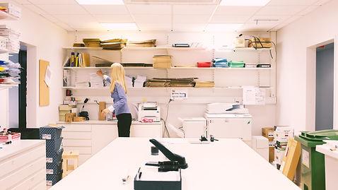 sala de suministros de oficina