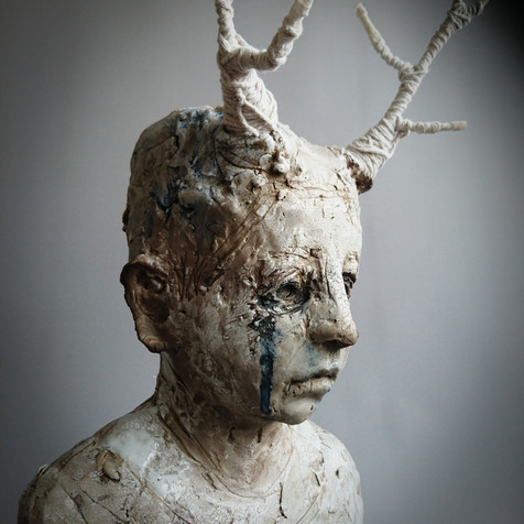 Faun with White Stag Antlers
