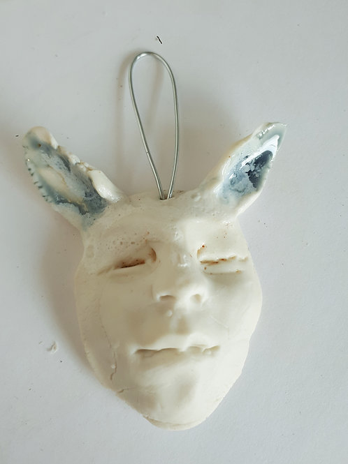 Forest faun face ( porcelain ) #5