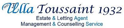 Ulla Toussaint Estate Agent Logo Header.