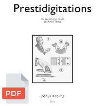 Prestidigitations score & parts (digital files)