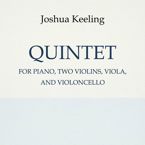 Piano Quintet (physical copy)