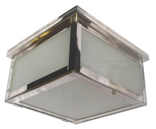 Square Nickel Ceiling Light