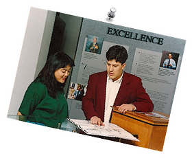 Ambassador assisting a visitor in 2001.