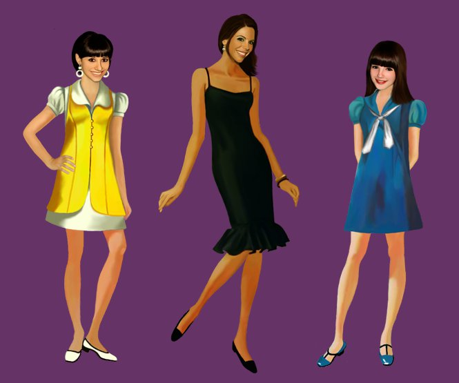 Digital Hand Drawing | Mod Girls