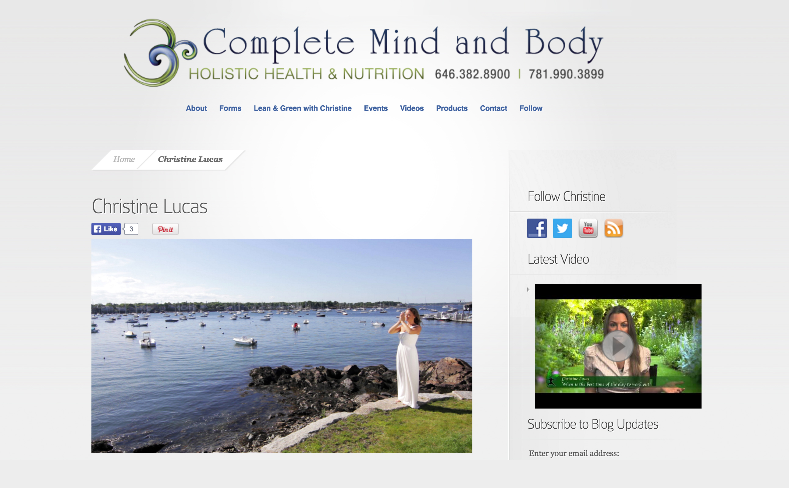 Web Design | Complete Mind & Body