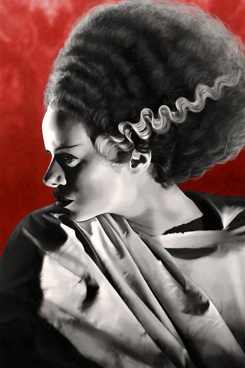 The Bride of Frankenstein 11x17 Original Art Poster (Print)