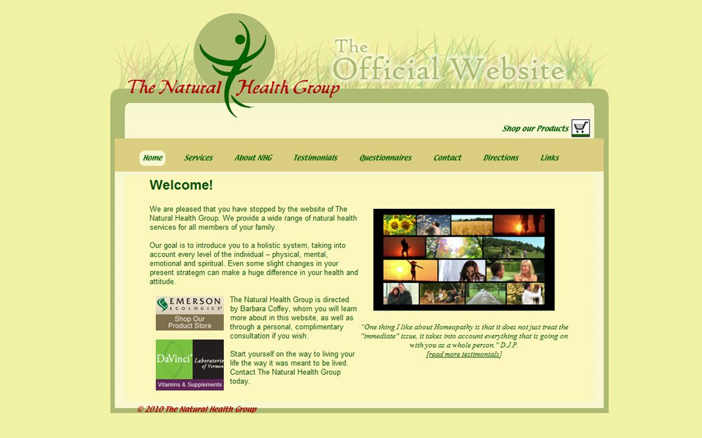 Web Design | Natural Health Group