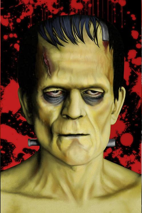 Frankenstein Monster 11x17 Original Art Poster (Print)