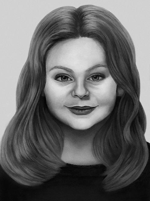 Single-Subject Custom Pencil Portrait from Photo