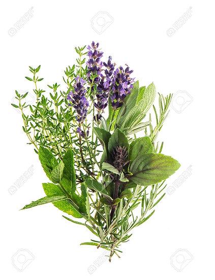 Respiration et transit - thym menthe verte lavande - feuilles et fleurs séchées