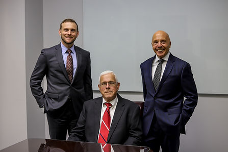 (Left to right) Travis A. Wymore, John M. Crossett, Jerome E. Brant