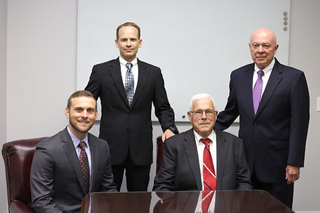 (Left to right) Travis A. Wymore, Allen R. Jones, II, John M. Crossett, and Ronald C. Mullennix