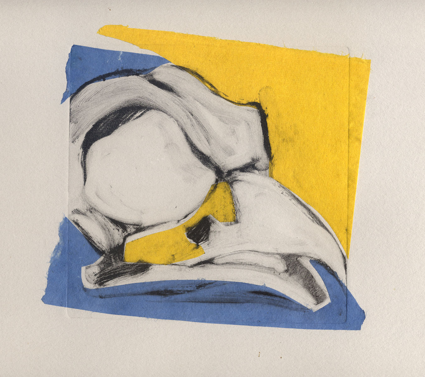 martha ebner bird skull yellow/blue