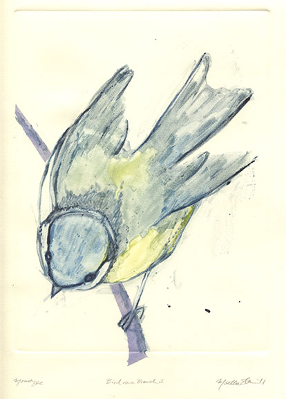 martha ebner bird monotype