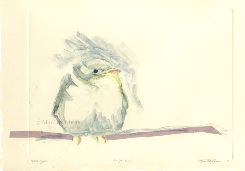 martha ebner perfect bird monotype