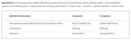 GLUCOSAMINE PLUS OLIMP 60 CAPS COMPO.JPG
