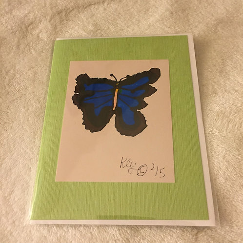 Blue Jaded Butterfly