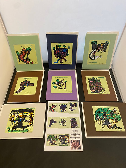Treehouse Greeting Card Series