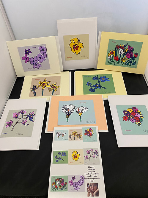 Flower Greeting Card Series