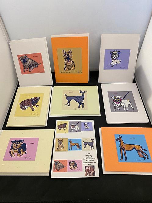 Dog Series Greeting Cards