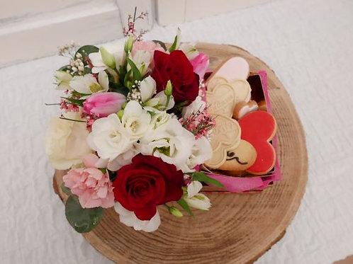 FLOWER - BISCUITS BOX