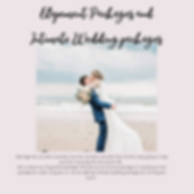 Elopement Packages and Intimate Wedding