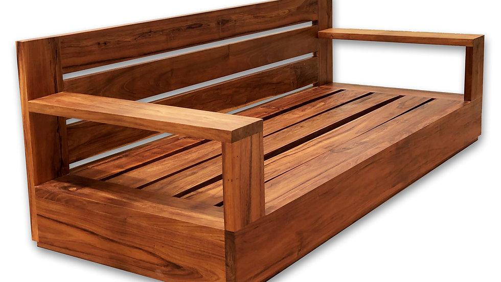 Sillón doble en madera de Tzalam