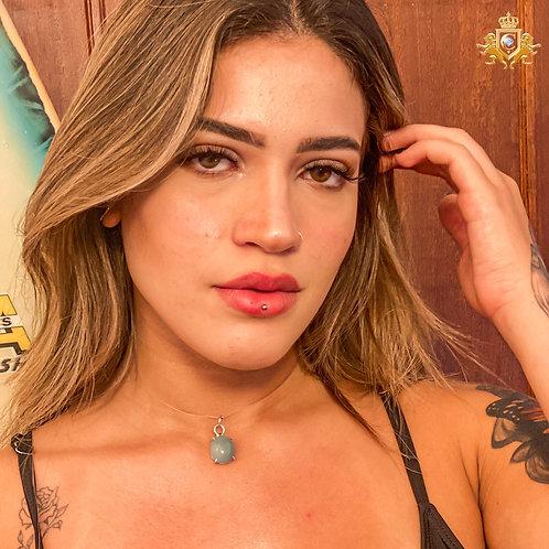 PINGENTE DE OPALA AZUL  | PRATA 950