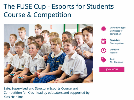 Online Esport Course - Perfect for Remote Learning