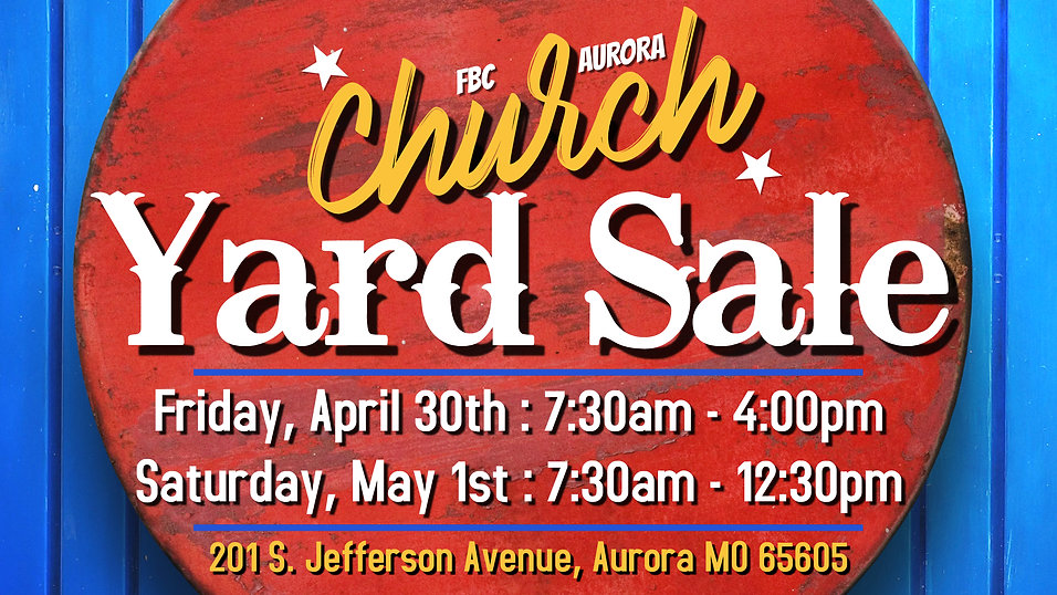 Church Yard Sale - Made with PosterMyWal