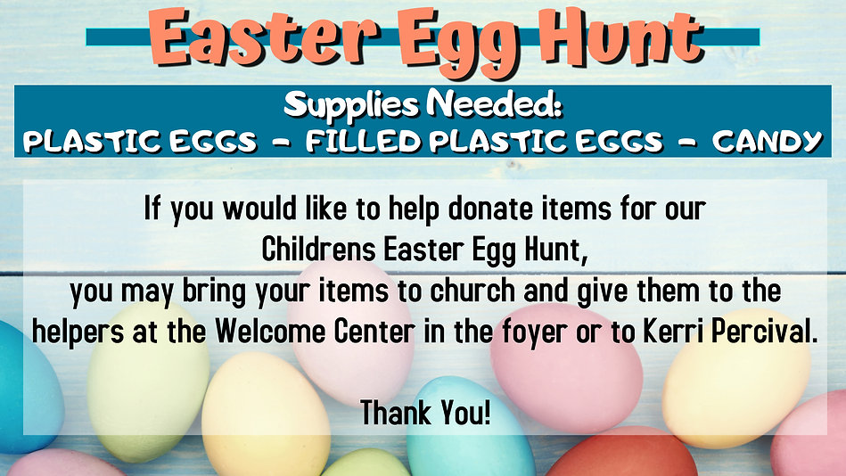 easter egg hunt supplies - Made with Pos