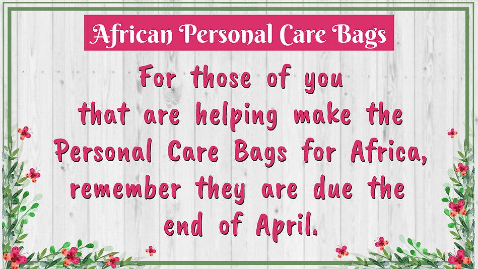 AFRICAN CARE BAGS - Made with PosterMyWa