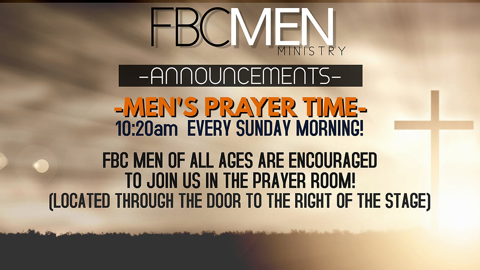 fbc men ANNOUNCEMENTS - Made with Poster