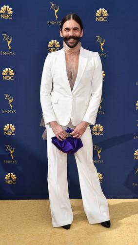 Jonathan+Van+Ness+70th+Emmy+Awards+Arriv