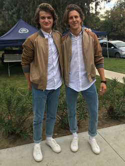 Actor Joe Keery & Stunt Double Jesse