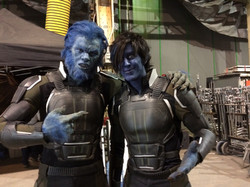 Jesse and Big Mich as Beast on X-Men