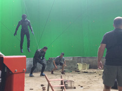 Jesse and Big Mich on the X-Men Set