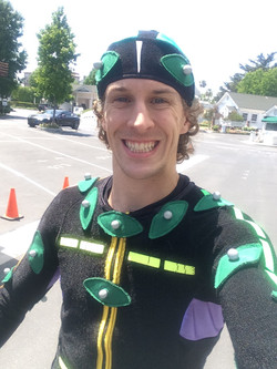 Jesse in a Mocap Suit for a Game